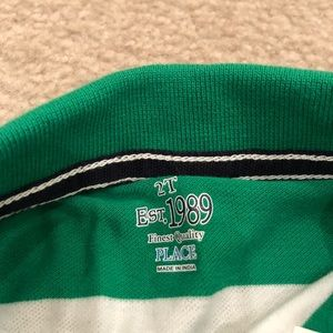 Children's Place Shirts & Tops - NWT Children's Place green white polo size 2T